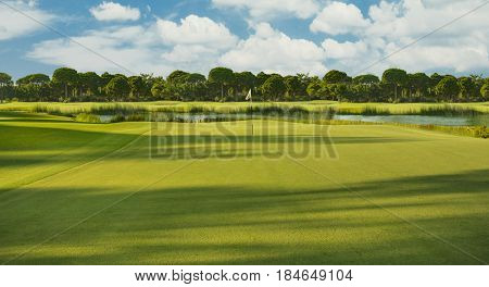 Golf course in the morning