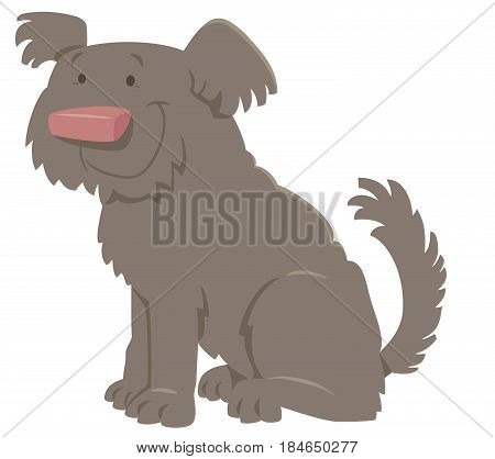 Cute Shaggy Cartoon Dog