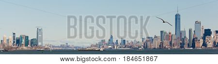 Lower Manhattan And Jersey City Skylines