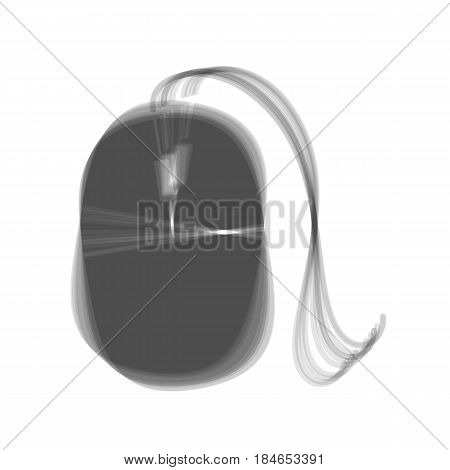 Mouse sign illustration. Vector. Gray icon shaked at white background.