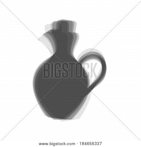 Amphora sign illustration. Vector. Gray icon shaked at white background.