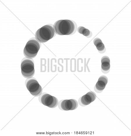 Circular loading sign. Vector. Gray icon shaked at white background.