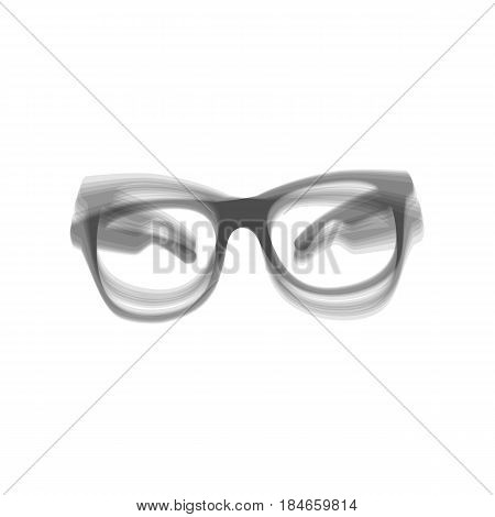 Sunglasses sign illustration. Vector. Gray icon shaked at white background.