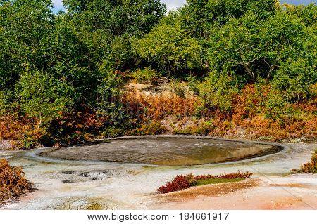 Volcanic pond in Uzon caldera, Kronotsky reserve