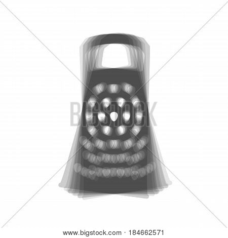 Cheese grater sign. Vector. Gray icon shaked at white background.