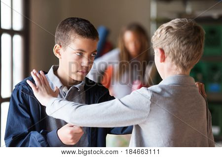 Students Fighting Indoors