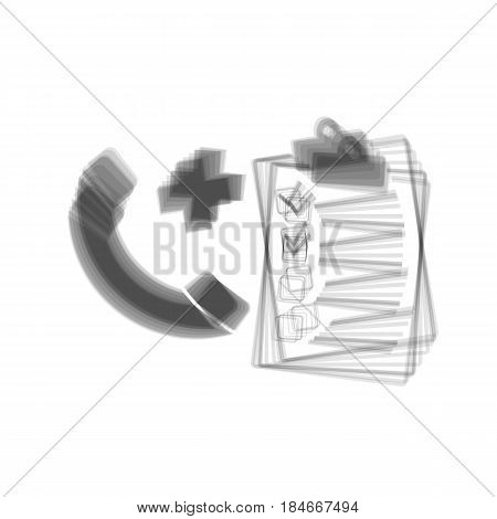 Medical consultation sign. Vector. Gray icon shaked at white background.