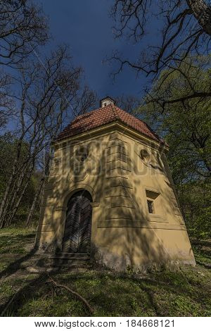 Exterior of old chapel near Kamyk village