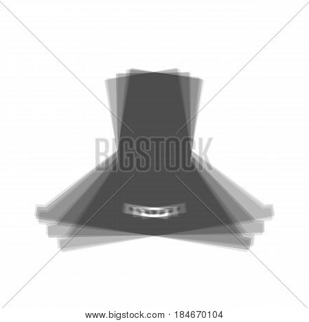 Exhaust hood. Kitchen ventilation sign. Vector. Gray icon shaked at white background.
