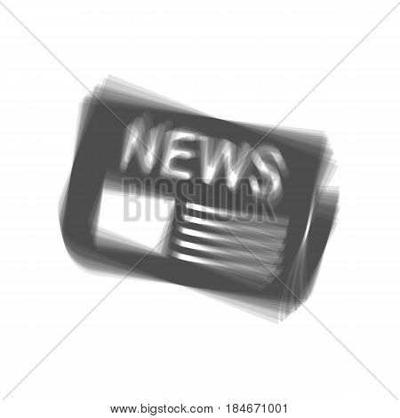 Newspaper sign. Vector. Gray icon shaked at white background.