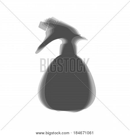 Spray bottle for cleaning sign. Vector. Gray icon shaked at white background.