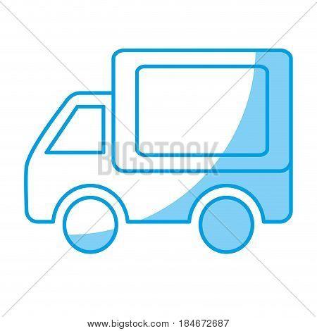 cargo truck icon over white background. vector illustraiton