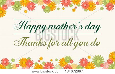 Collection stock mother day card background vector illustration