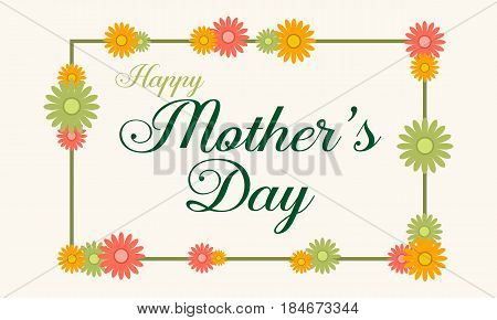 Mother day background style illustration collection stock