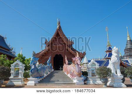 Buddhist temple near Doi suthep,  Chiang-Mai Thailand