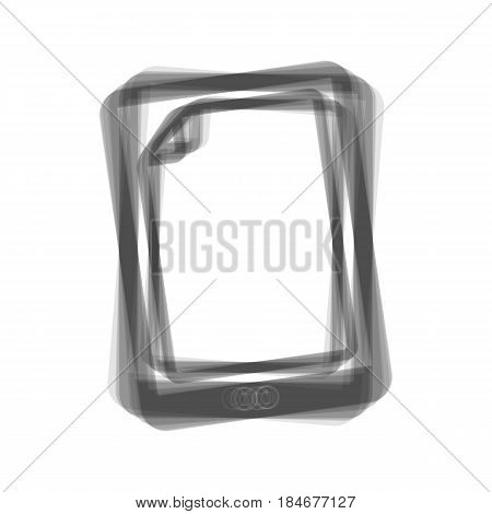 Protective sticker on the screen. Vector. Gray icon shaked at white background.