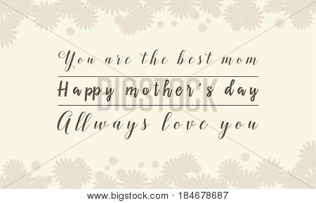 Collection stock of mother day background vector art