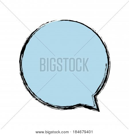 speech bubble icon over white background. vector illustration