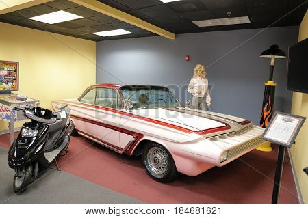 MIAMI, FL, USA - MAY 3, 2017: Stock photo of the Miami Auto Museum at the Dezer Collection of automobiles and related memorabilia.