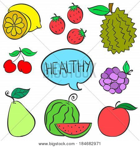 Collection stock of fruit various style vector art