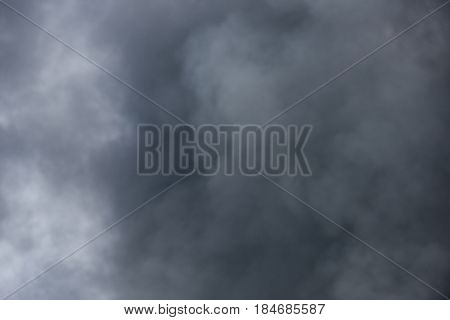 Large black billowing clouds of thick smoke from large fire background texture