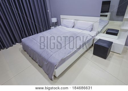 the Modern bedroom interior in the home