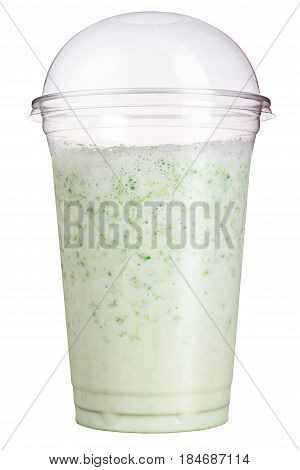 Take-away Drink. Refreshing Drink In A Plastic Cup. Fruity Smoothies Or Milkshake.