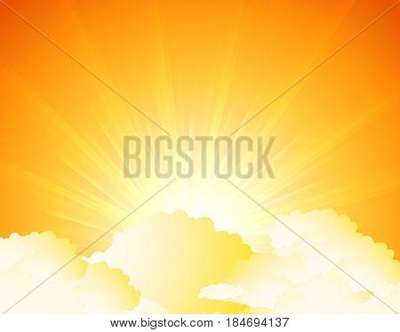 sunburst sunrise Illustration vector. Fully editable Illustration vector
