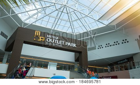 Sepang,malaysia - Mar 23, 2017. Interior Of Mitsui Outlet Park Klia Sepang Shopping Mall. The Mall I