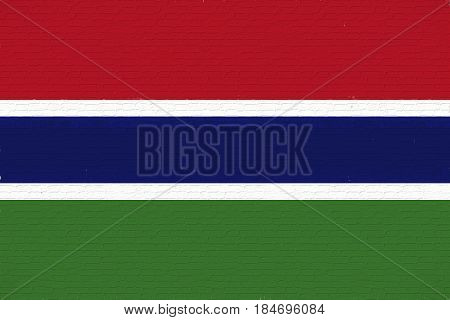 Flag Of The Gambia Wall.