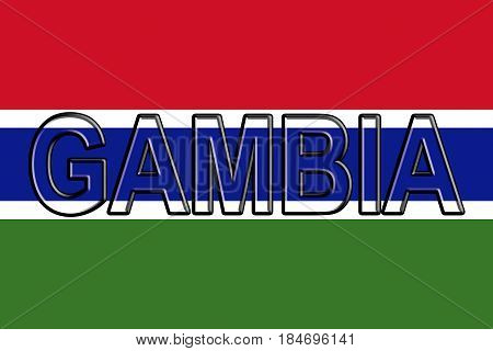 Flag Of The Gambia Word.