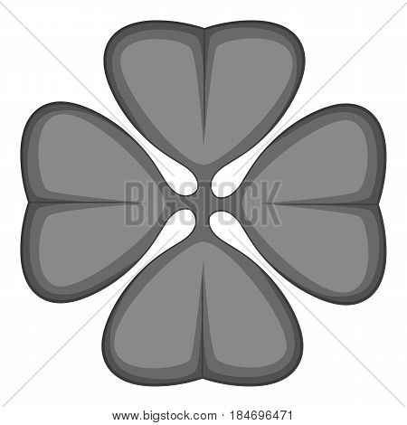 Cloverleaf icon in monochrome style isolated on white background vector illustration