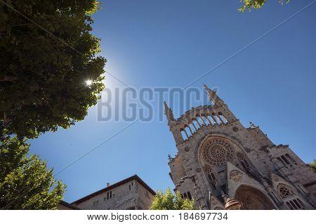 St Bartholomew church in Soller Majorca Balearic islands Spain