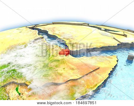 Djibouti On Globe