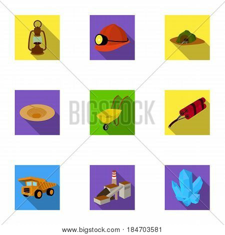 A set of icons with books. Seth about the library, reading, bookstore. Library and bookstore icon in set collection on flat style vector symbol stock web illustration.