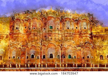 Hawa Mahal - Wind Palace in Jaipur Rajasthan India