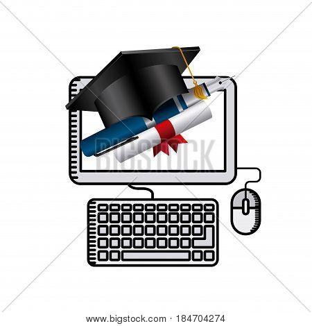 distance education elearning icon vector illustration design