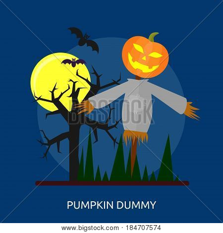 Pumpkin Dummy Conceptual Design Great flat illustration concept icon and use for halloween, holiday, horror, night and much more.