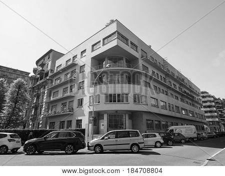 Novocomum House In Como In Black And White
