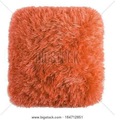 Fluffy and soft pillow of yarn isolated on white background