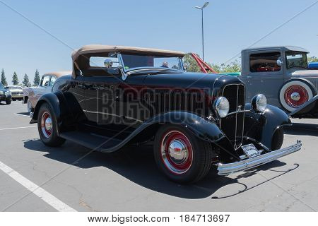 Ford Hot Rod Convertible On Display