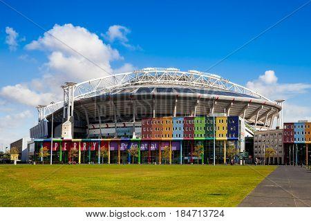 Amsterdam, Netherlands - April, 2017: Ajax Arena stadium in Amsterdam city, Netherlands