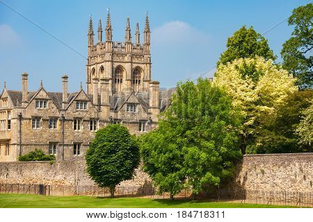 View of Merton College. Oxford University Oxford Oxfordshire England UK