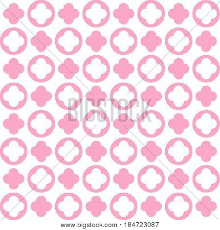 Vector flower pattern background. Flowering Japanese cherry with flying leaves on a white background. Vector illustration.