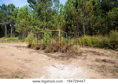 Abandoned soccer field in Portugal