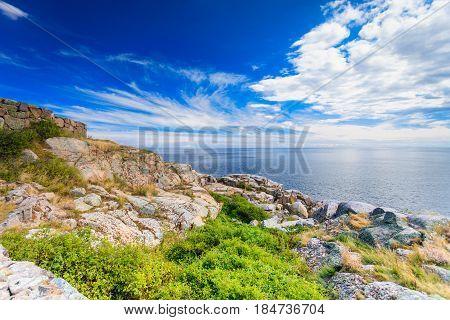 Stony Coast At Christianso Near Bornholm