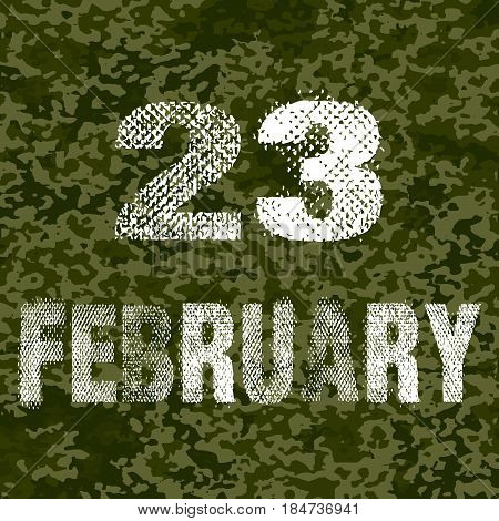 23 february. Vector illustration. isolated on background. Vector illustration. Eps 10.