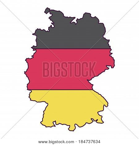 Map and cartography icon. Germany europe and landmark theme. Colorful design. Vector illustration