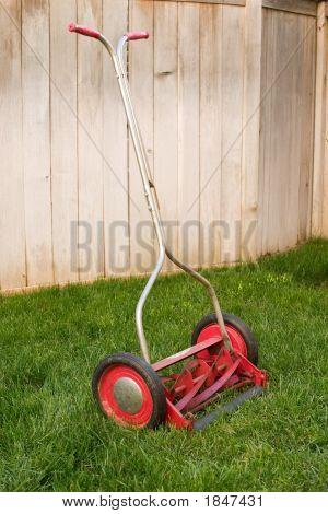 Old Retro Lawnmower