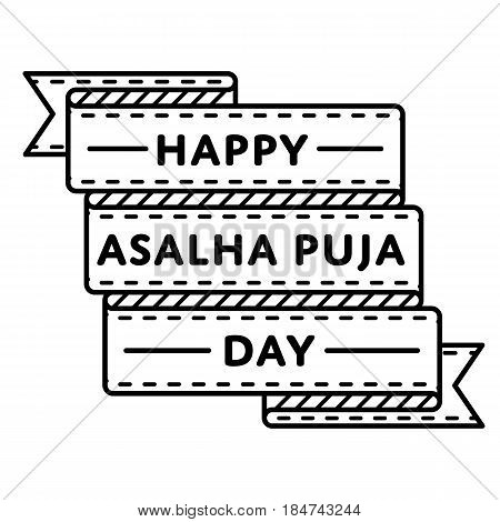 Happy Asalha Puja Day emblem isolated vector illustration on white background. 8 july thai buddhistic holiday event label, greeting card decoration graphic element
